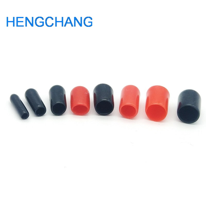100pcs/lot 2mm 3mm 4mm 5mm 6mm protective cover Rubber Covers Dust Cap red for SMA connector or metal tubes screwdriver handle
