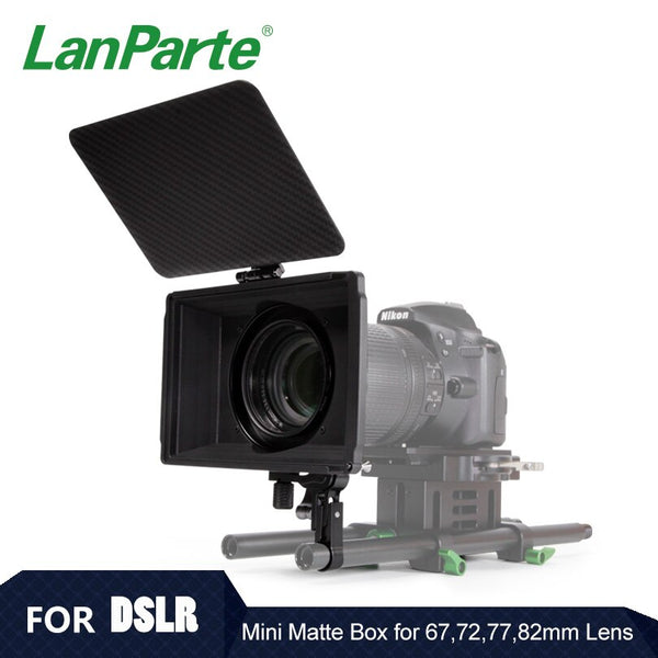 Lanparte Mini Matte Box with 67 72 77 82mm Lens Adapter Ring for DSLR Camera Accessories