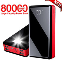 80000mAh Power Bank Portable High Capacity Mobile Phone Fast Charger for Xiaomi Samsung IPhone Free Shipping