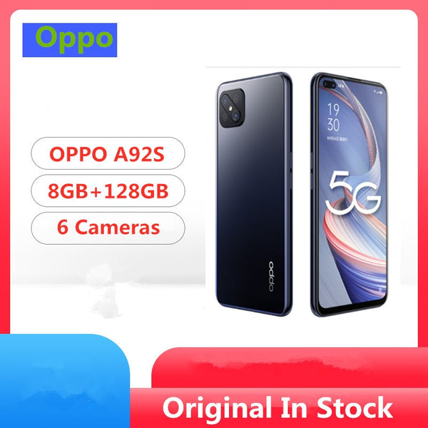 DHL Fast Delivery Oppo A92S 5G Cell Phone Mediatek 800 Android 10.0 6.57
