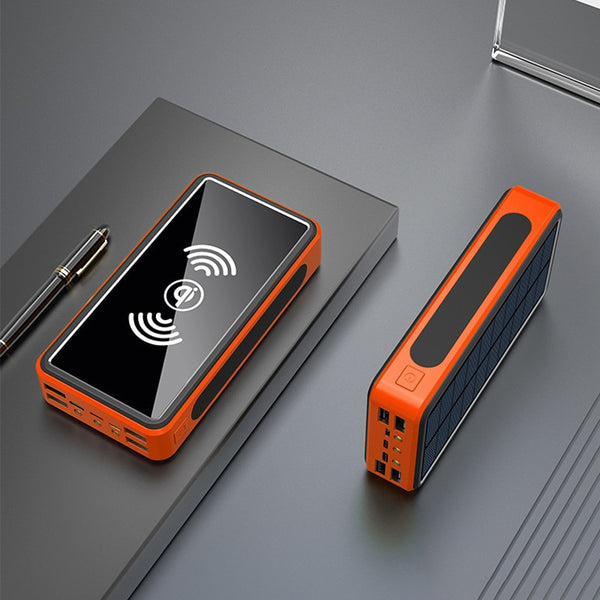 50000mAh Solar Power Bank Solar Charger Qi Wireless Charging USB Type C External Battery Powerbank for iPhone Xiaomi Poverbank
