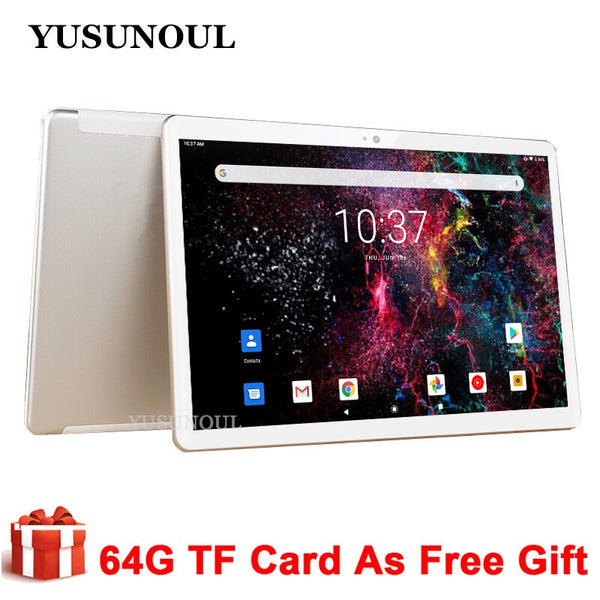 Phone Call tablets Dual SIM Cards Wifi  32GB ROM 10 inch Tablet Android 9.0 Dual Cameras Tablette tablets PC GPS+Free Gifts
