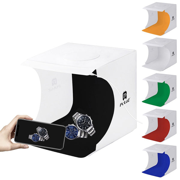 Portable Folding Lightbox Photography Studio Softbox LED Light Soft Box fotografia for iPhone HTC DSLR Camera Photo Background