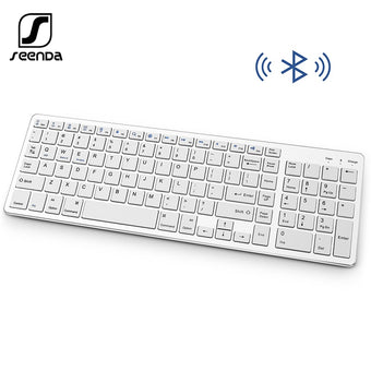 SeenDa Bluetooth Keyboard Rechargeable Portable Wireless Keyboard with Number Pad Full Size Design for Laptop Desktop PC Tablet