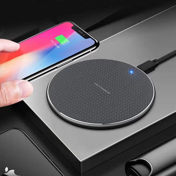 10W Qi Wireless Charger For iPhone 8 X XR XS Max QC3.0 10W Fast Wireless Charging for Samsung S9 S8 Note 9 S10 USB Charger Pad