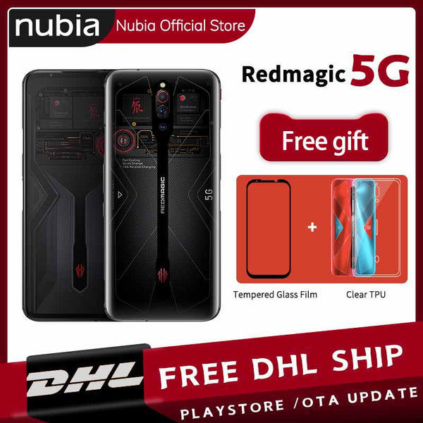 Global Version Nubia Red Magic 5G MobilePhone 6.65 inch Snapdragon 865 Android 10 NFC Gaming Phone WIFI 6