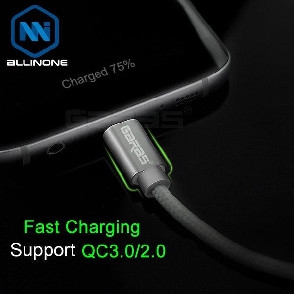 Garas cable 3A Fast Charger/Data Cable USB for Type C micro Cable Quick Charger Mobile phone