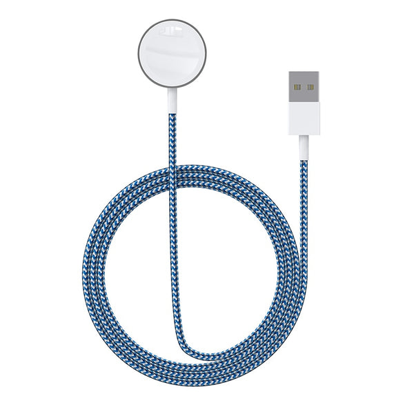 Portable Smart USB Watch Charger Cable Magnetic Wireless Charging Dock for Apple IWatch Series 5 4 3 2 1 Applewatch for IPhone (Blue)