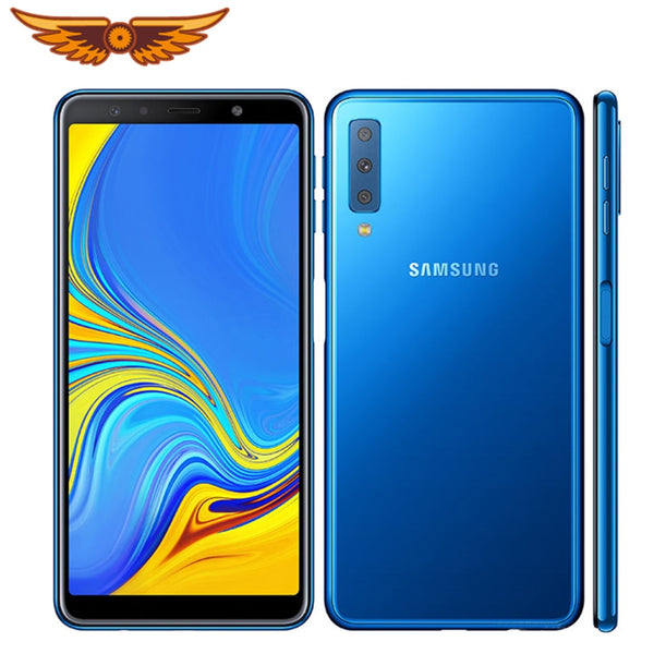 Original Samsung Galaxy A7 (2018) A750F 6.0 Inches Octa-core 4GB RAM 64GB ROM 24MP Triple Camera LTE Unlocked Android Cellphone