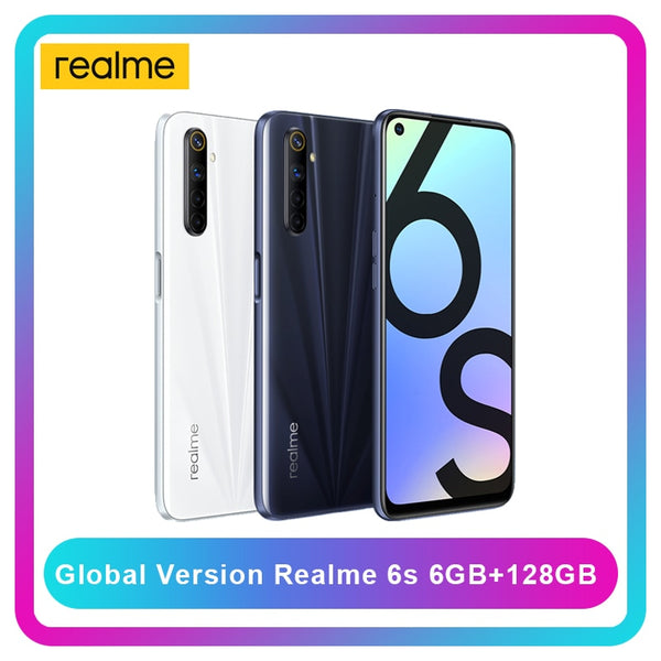 realme 6s smartphone 6GB 128GB 90Hz 6.5inch FHD+ Display 48MP Qual Cameras Android 10 4300mAh 30W changer mobile phone