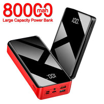 80000 mAh Power Bank Large-Capacity External Battery USB Portable Mobile Phone Charger LCD PowerBank for Samsung Xiaomi Iphone