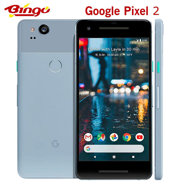 Original Unlocked Google Pixel 2 5.0'' inch Octa Core Single sim 4G LTE Android cellphone 4GB RAM 64GB ROM smartphone