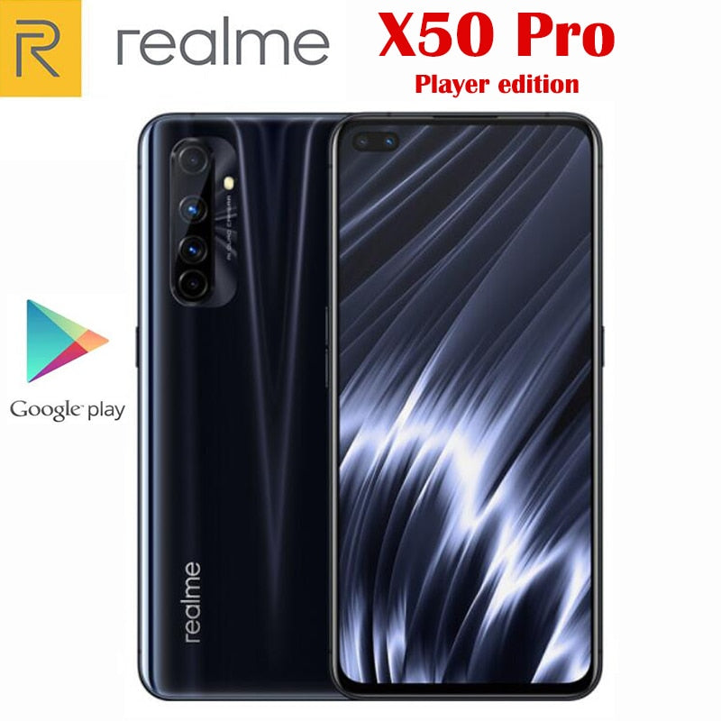 Original Official Realme X50 Pro Player edition 5G Cell Phone Snapdragon 865 65W SuperDart 4200Mah  6.44inch 90Hz Supper AMOLED