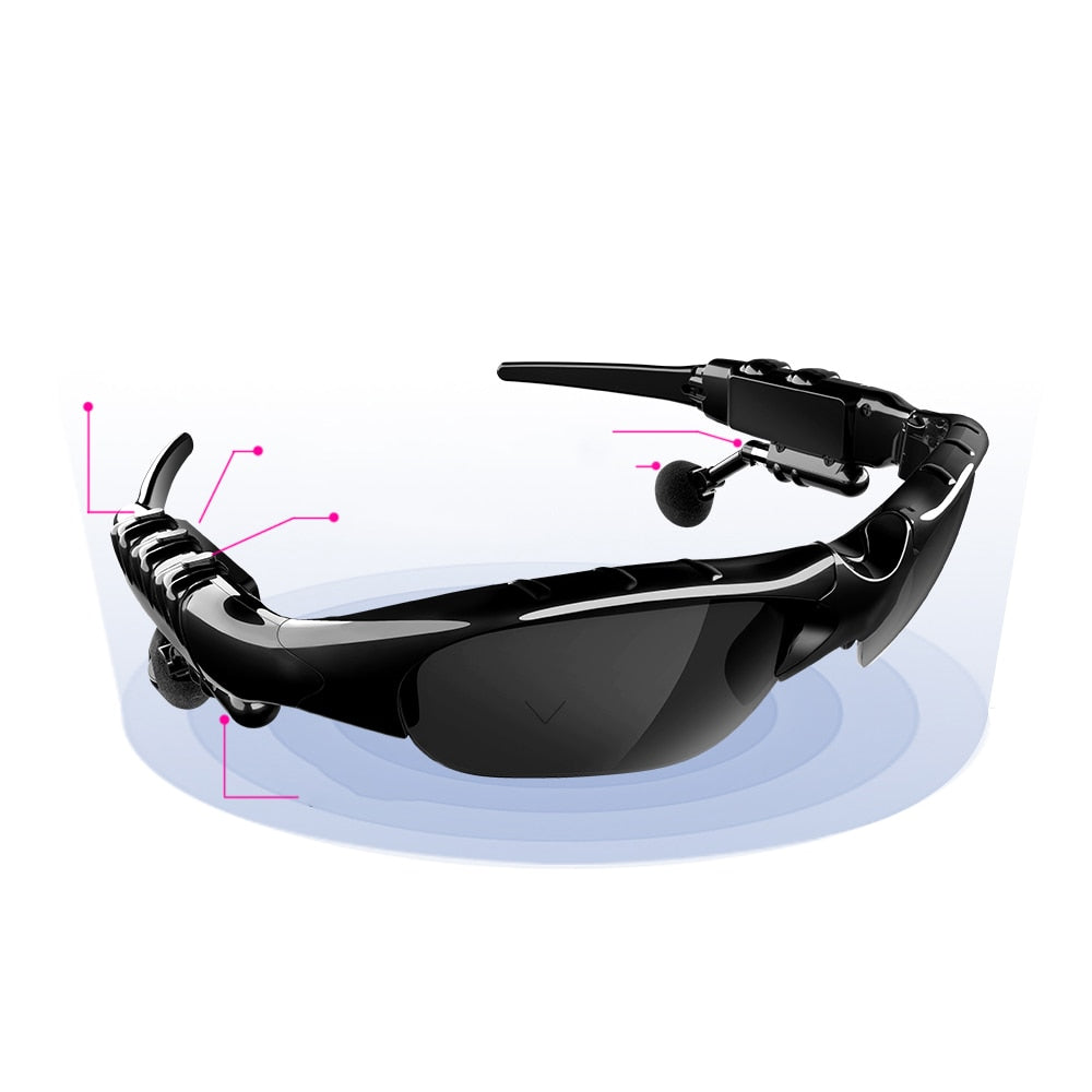 Stereo Bluetooth Glasses Music Bluetooth Phone Wireless Outdoor Glasses Earbuds Earphones Sport Headphone Lens for Sport