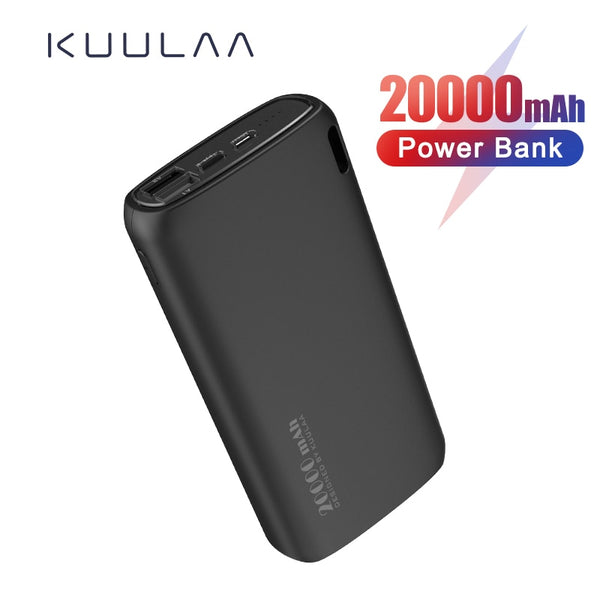 KUULAA Power Bank 20000mAh Portable Charging Poverbank Mobile Phone External Battery Charger Powerbank 20000 mAh for Xiaomi Mi