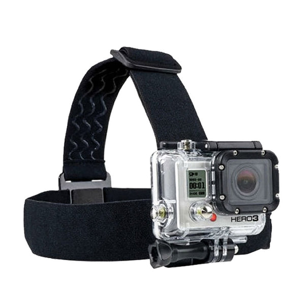 for Go Pro Mount Belt Adjustable Head Strap Band Session for Gopro Hero 6/5/4/3 SJCAM Xiaomi Yi 4k Action Camera Accessories (Black belt)