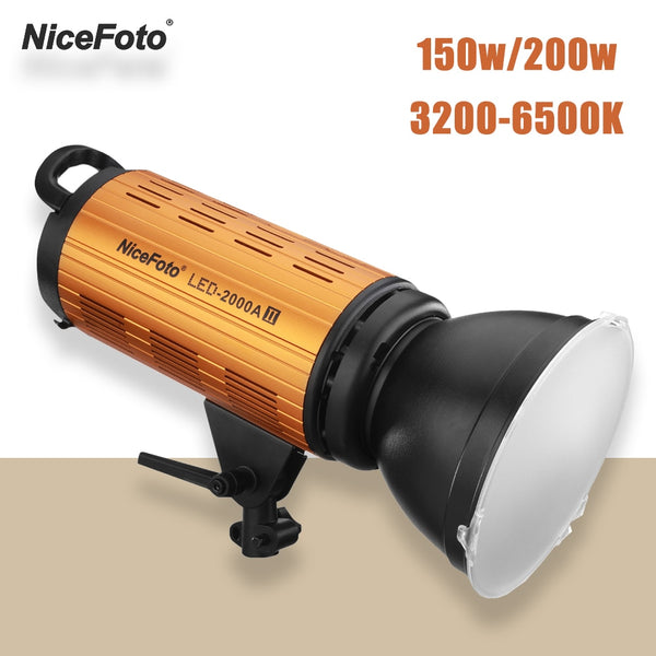 NiceFoto LED-1500AII 2000AII 150W 200W LED Light Lamp 3200-6500K Daylight Video Studio Light with LCD Display APP Control