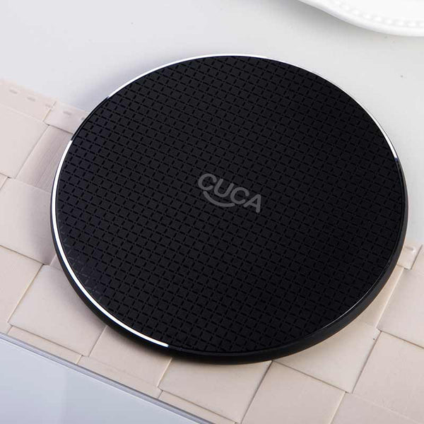 CUCA 10W Fast QI Charger Wireless Magnetic charging Fast Wireless Charger Charging Pad For iPhone 8 Plus X XR XS 11Pro Max 12 (black)