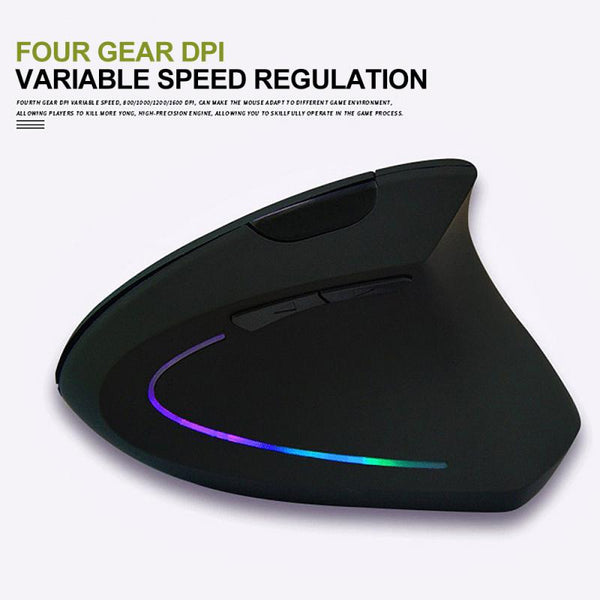 1 Pcs 2.4GHz Wireless Mouse Vertical Gaming Mouse 800 1200 1600 DPI Ergonomic Computer Mice Office Computer Peripherals