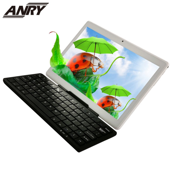 ANRY Tablet Pc 10 Inch Android 8.1 Phablet 4G Lte Phone Call Tab RAM 2 GB ROM 32GB 2 In 1 Tablet With AN65 Wireless Keyboard