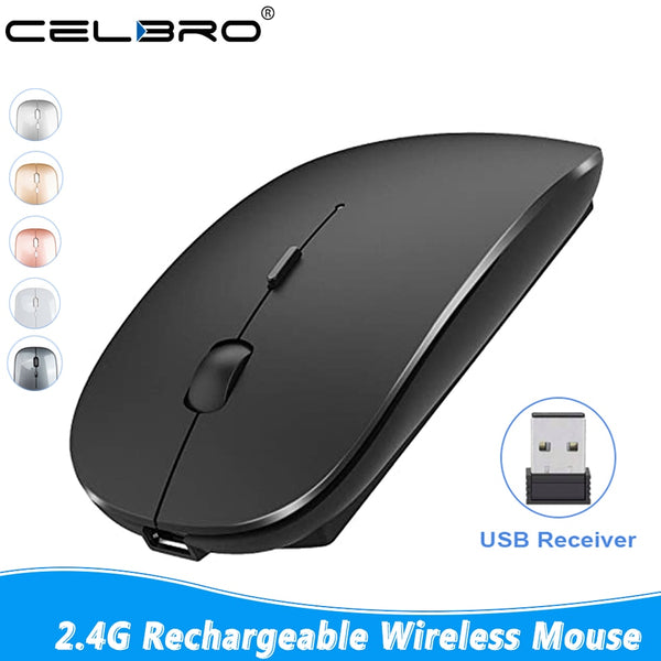 2.4G Wireless Mouse Rechargeable Mute Mini Noiseless Optical Mouse Office Gaming Mouse For iPad Mac PC Laptop Ultra Slim Mice