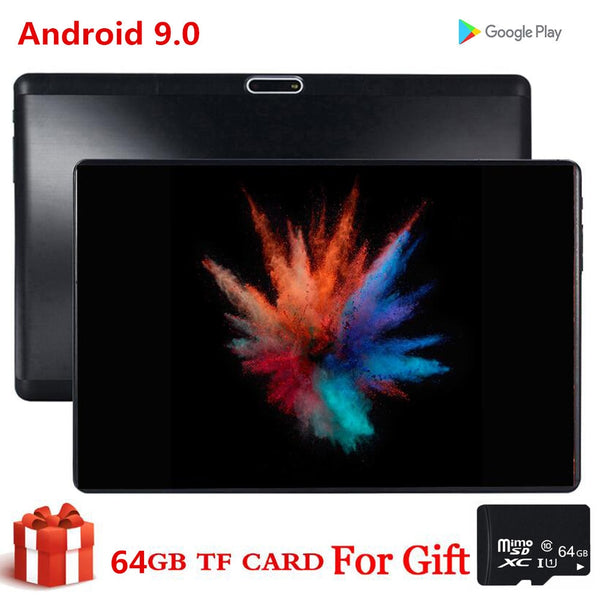 Gift 64GB TF Dual SIM Card Tablet 10 Inch S119 MID PC Global Bluetooth 3g Wifi Phablet Android 9.0 Core 2.5D Tablet CE Band 32GB