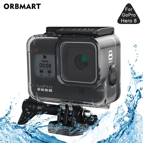 ORBMART 60M Waterproof Housing Case for GoPro Hero 8 Black Diving Protective Underwater Dive Cover for Go Pro 8 Accessories