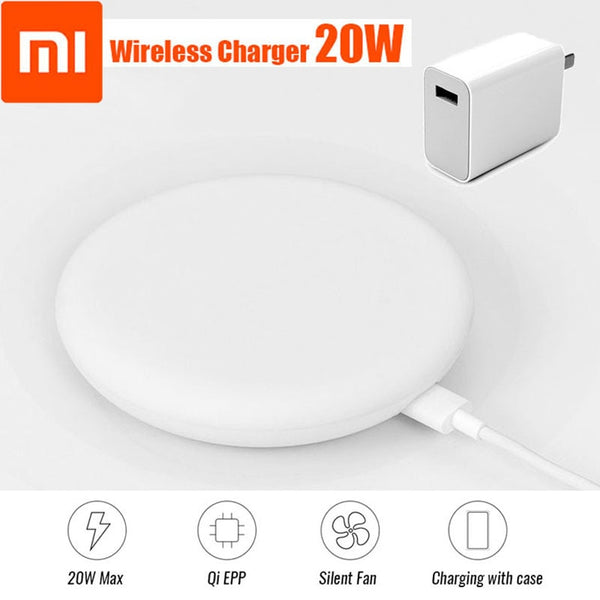 Original Xiaomi 20W Max Wireless Charger 15V 27W charge adapter to Xiaomi Mi8 Mi9 Mi9 Pro 5G MiX 2S iPhone XS XR XS MAX 11 9 Pro