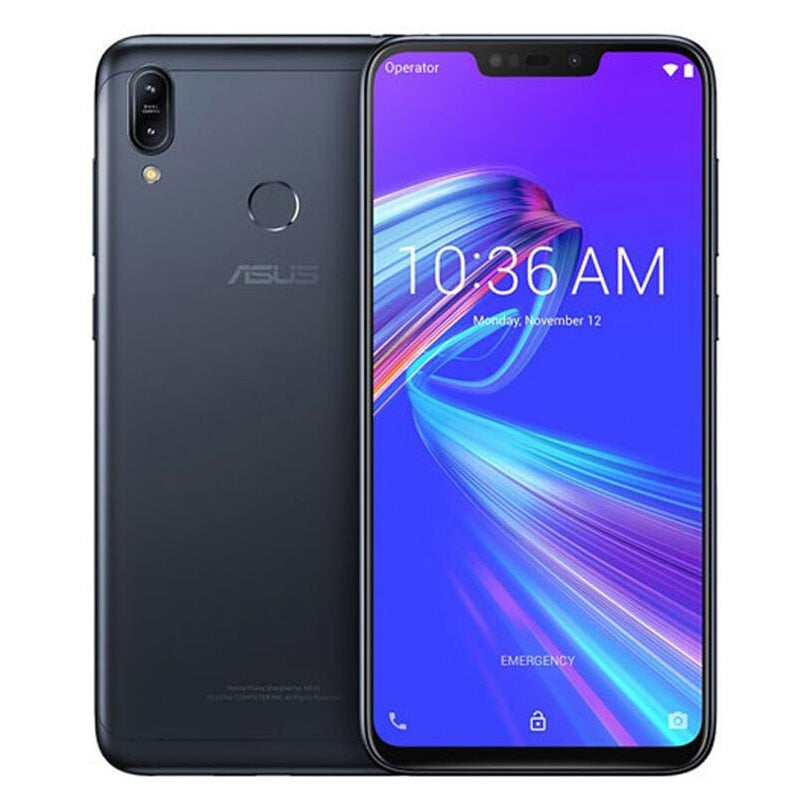 "Original Asus Zenfone Max M2 ZB633KL 4G LTE 6.3""Mobile Phone Snapdragon Octa-core Dual Camera Fingerprint 4000mAh Global Version (Global Version Black 3GB 32GB)"