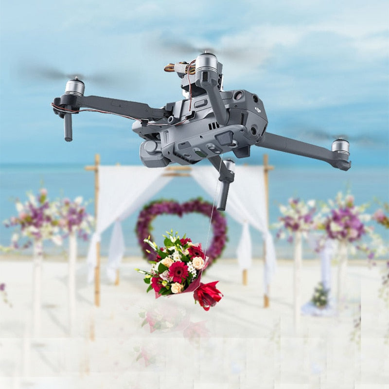 Mavic2 Drone Thrower Air-Dropping Thrower System Wedding Ring Gift Emergency Delivery Rescue Fishing for DJI Mavic 2 Pro/Zoom