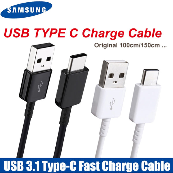 Original Samsung TYPE C Cable 0.28/1.2/1.5M Fast Charger Data Line For samsung Galaxy S8 S9 Plus S10 Note 8 9 10 A3/A5/A7 2017