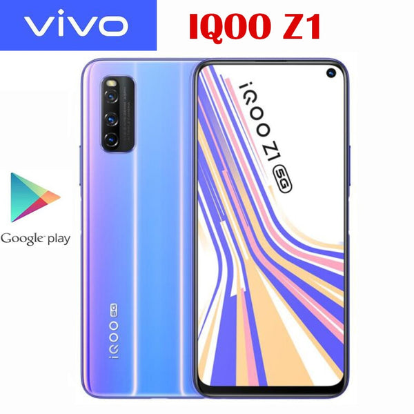 Original Official VIVO IQOO Z1 5G Cell Phone MTK1000 Plus 6.57inch LCD 144Hz Refresh Rate NFC 4500mAh 44W SupperVOOC 48MP Camera