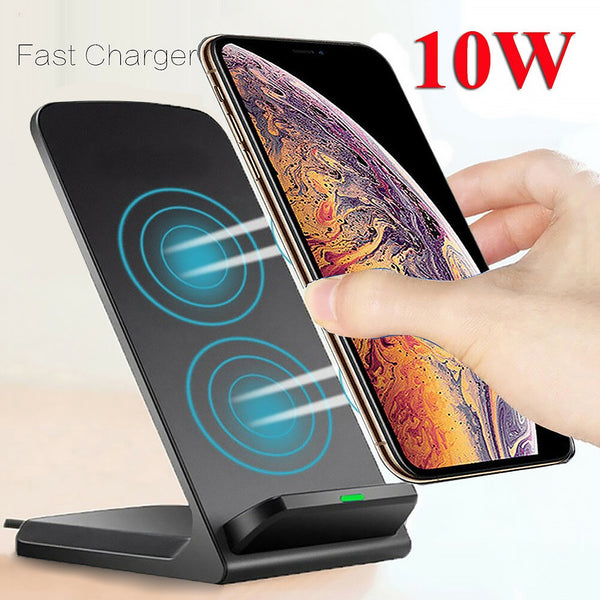 Quick Charge Dock 10W Wireless Charger For Samsung S10 S20 Fast Charging Stand Pad For iPhone 11 Pro XS Max XR X 8