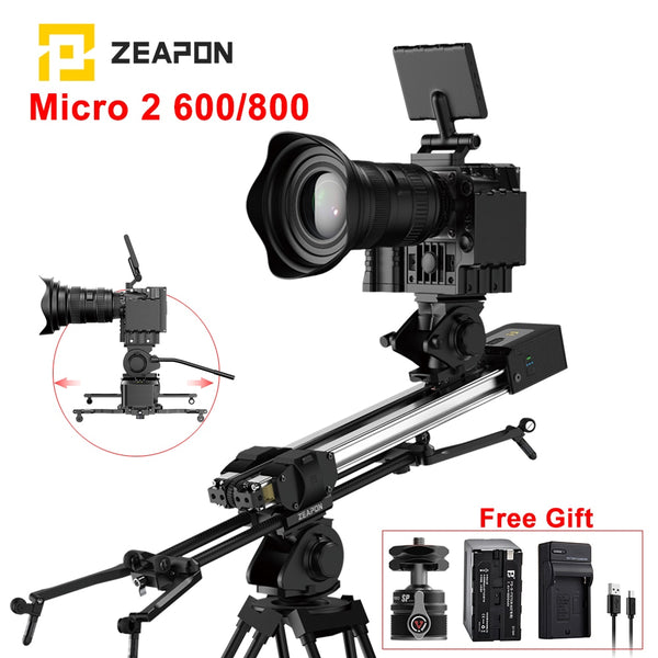 ZEAPON Micro 2 Motorized Manual Slider E600 E800 M600 M800 DSLR Camera Video Double Distance Portable Motor Macro Track Slider