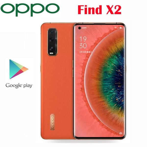 Official Original OPPO Find X2 5G Cell phone Snapdragon865 48MP 4200mAh NFC 65W Charger  6.7inch 3168x1440P 120Hz OLED display