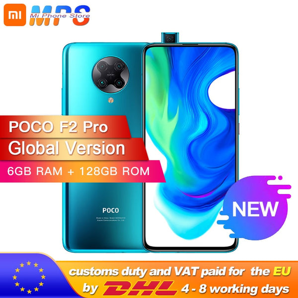 Spain Overseas Global Version Xiaomi POCO F2 Pro 6GB 128GB Smartphone Snapdragon 865 64MP Quad Rear Cameras 4700mAh NFC