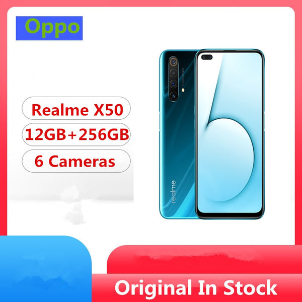 DHL Fast Delivery Realme X50 5G Cell Phone Snapdragon 765G Android 10.0 6.57
