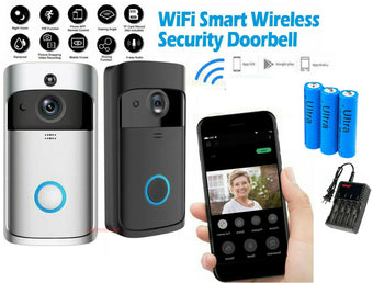 Smart Doorbell Camera Wifi Wireless Call Intercom Video-Eye for Apartments Door Bell Ring for Phone Home Security Camera V5