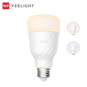Yeelight Wifi Smart LED Light Bulb Tunable White E27 800 Lumens 10W IFTTT Smart Home Automation Google Assistant Alexa (White)