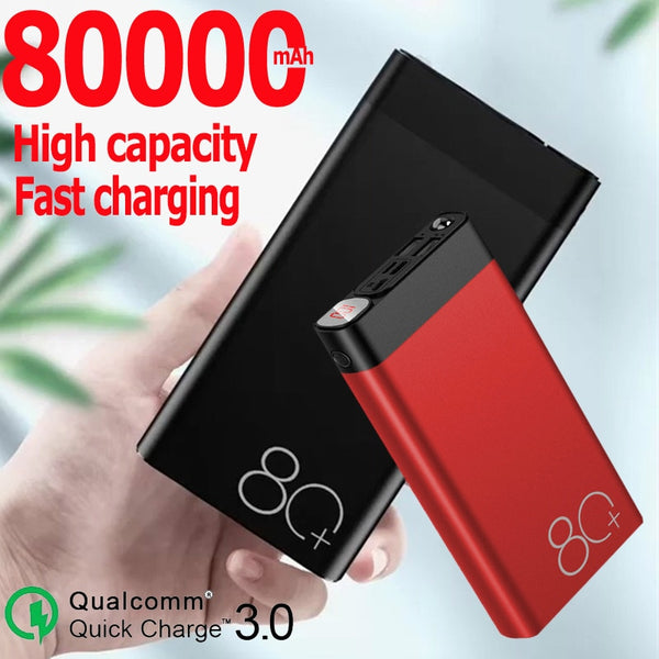 Power Bank Large Capacity 80000mAh  Portable Phone Charger Digital Display Outdoor Travel for Xiaomi Samsung IPhone Power Bank