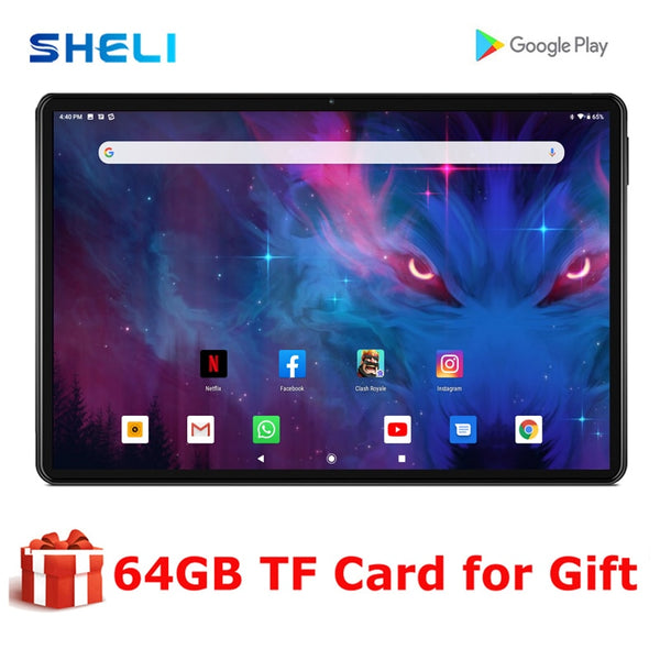 New 10 inch tablet PC Octa Core Android 9.0 WiFi Bluetooth Dual SIM Cards 4G LTE Phone call Tablets 3GB RAM Add 64G memory card