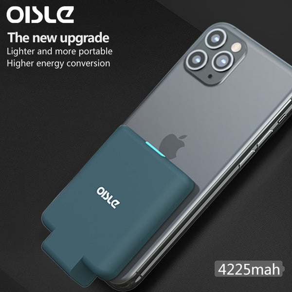 OISLE 4225mah mini portable mobile power bank for iphone X 11 se2 battery case for Samsung S10/S9/s20 FOR Huawei p30/P20 PRO/P40