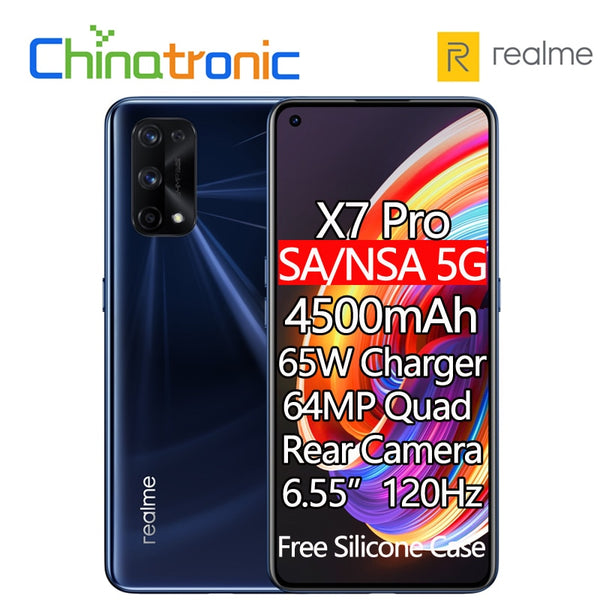 Original realme X7 Pro 6GB 128GB 5G Mobile Phone Octa Core 6.55