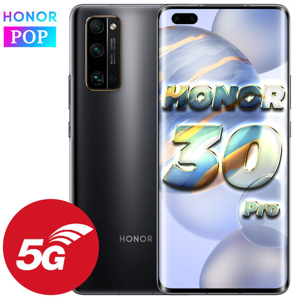 HONOR 30 Pro 5G Mobile Phone 6.57 inch Kirin 990 Android 10 in-screen SA/NSA 40MP Ultra Vision Camera 2.4Gbps Wi-Fi 6+