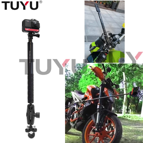 Motorcycle Bike Camera Holder Handlebar Mirror Mount Bracket Stand For Insta360 One X R GoPro Invisible Selfie Stick accessories