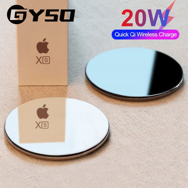GYSO 20W Fast Wireless Charger For Samsung Galaxy S10 S9 Note 10 S10+ 9 USB Qi Charging Pad for iPhone 11 Pro XS Max XR X 8 Plus