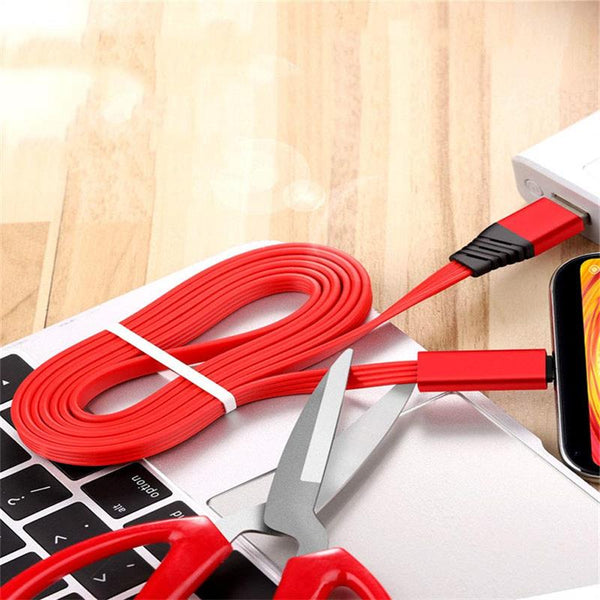 1.5m adjustable mobile phone charger cable suitable for Samsung Huawei USB can quickly cut  type C mobile phone reusable cable