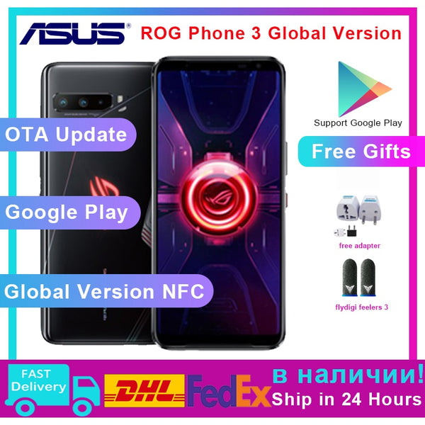 ASUS ROG Phone 3 Global Version ZS661KS 5G Smartphone Snapdragon 865/865Plus OTA rog phone 2 update version ROG3 Смартфоны
