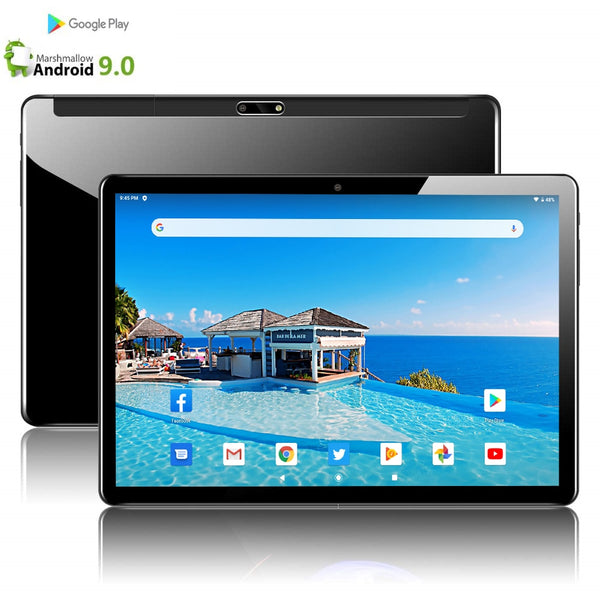 Tablets CP9 64GB ( 32GB +32GB TF Card ) Bluetooth Wifi phablet Android 9.0 10.1 inch tablet Dual SIM Card 2.5D Tablet 9 10