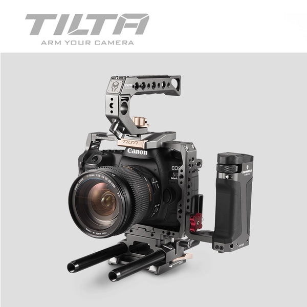 Tilta TA-T47-A-G Camera CAGE DSLR rig  FOR CANON 5D 7D 5D2 5D3 5D4 5D mark II 4D mark III side focus handle vs smallrig